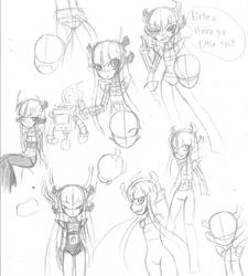 Undertales from down below Metta-Chi sketches by heavy147