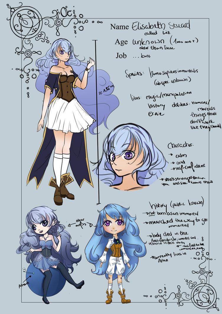Charactersheet: Liz (OC) by Annikania