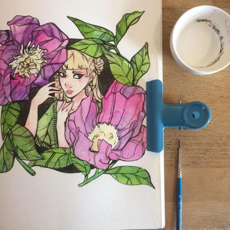 Peonies  by Annikania