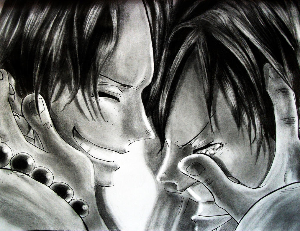 The Last Words (Ace and Luffy) by Sasoriakasuna1