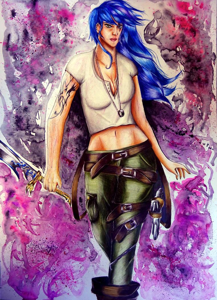 Naevia (Pain x Conan Daughter) by Sasoriakasuna1