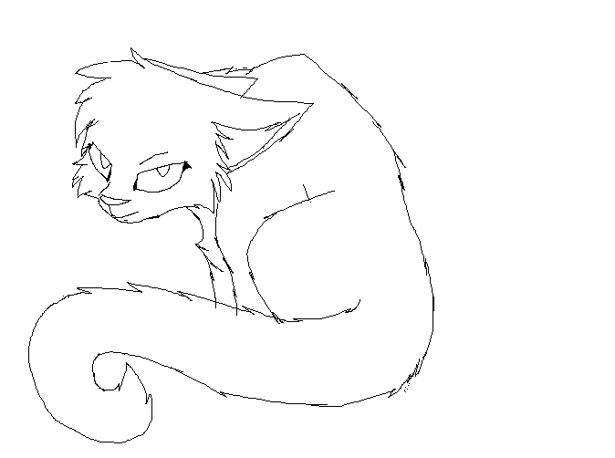 Cat Depressed Lineart By Ronythekat On DeviantArt
