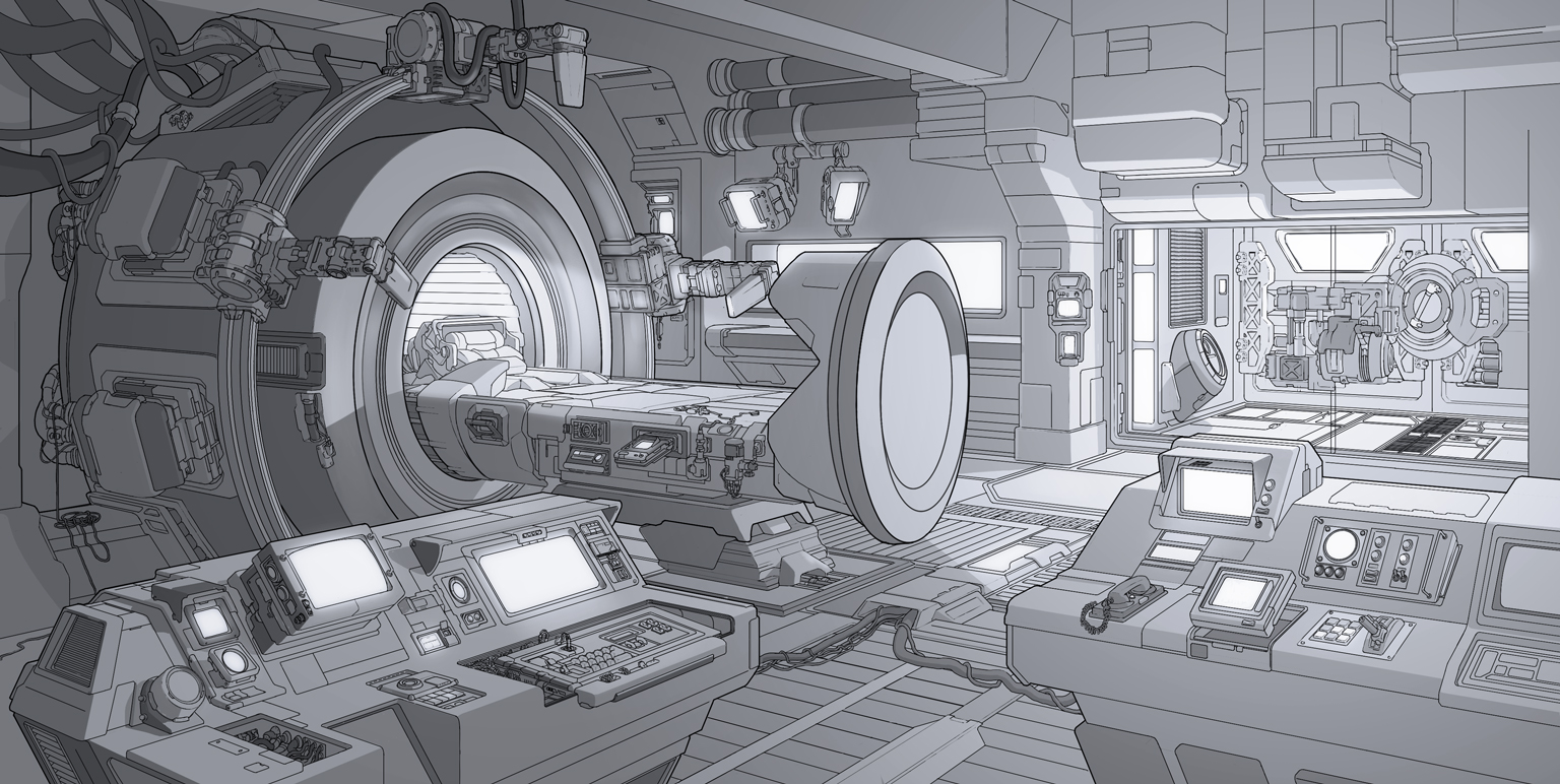 Med bay concept by pykalaniemi on DeviantArt