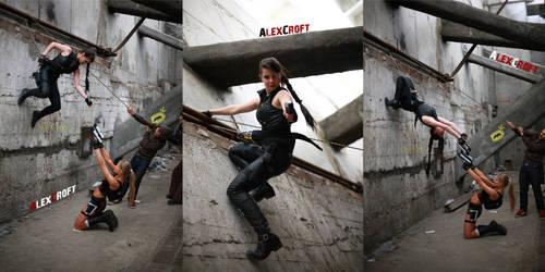 Lara vs Lara's Shadow (NOT EDIT. time of work) by AlexCroftRus