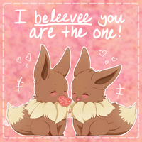 I beliEEVEE you're the one by ChibiSheepi
