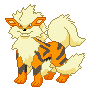 Arcanine Pixel Over by Salmushi