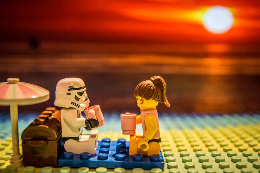 Lego Star Wars Stormtrooper - sunset picnic