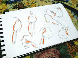 Little_Bird_Sketch by CrimsonKingArt
