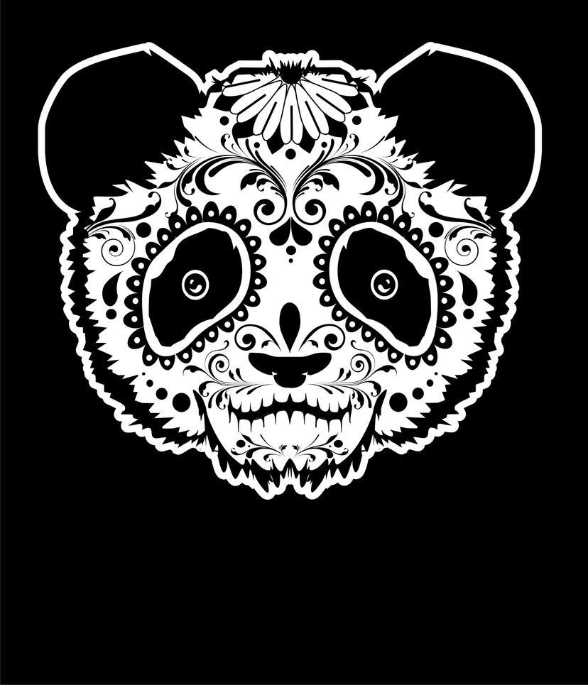 Panda de Los Muertos by yuri-rodrigues on DeviantArt