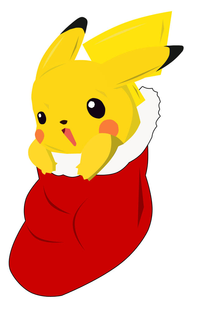 Pikachu in a stocking by ramen-yum