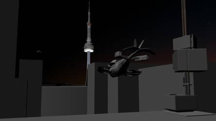 Cities of Dust - WIP - Toronto 03 by Shadowphaux