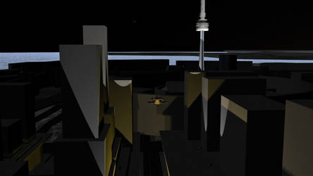 Cities of Dust - WIP - Toronto 04 (With Lighting) by Shadowphaux