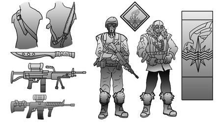 City Defense Force - Designs 01 by Shadowphaux