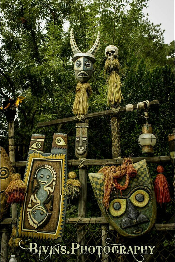 Tiki Room Head Hunters by dopey5150