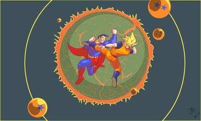 Superman vs. Goku by ComicBoySupreme