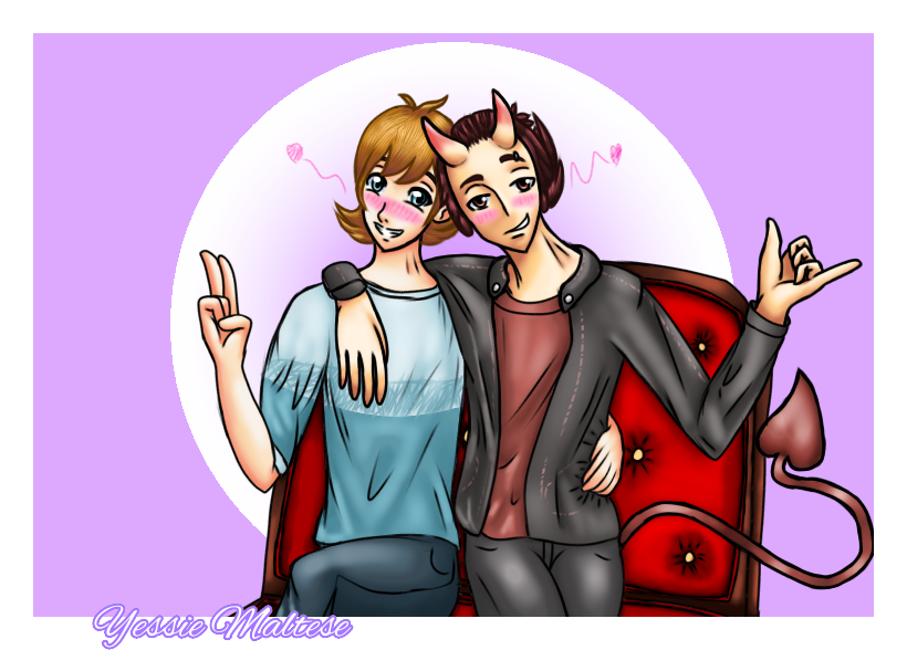 Commission: .:Smile:. (Max x Oliver) by YessieMaltese