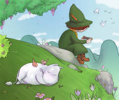 Moomins - Daydreamin by Niladhevan