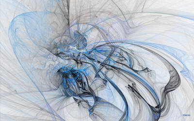 Ode to the Blue Wisp by Oica