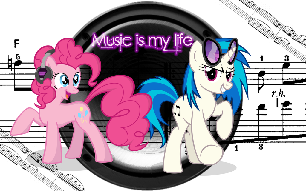 Music is my life dj pon-3 and pinkie wallpaper by Timexturner