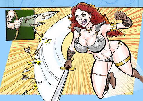 Red Sonja Page 12 Last 2 Panels