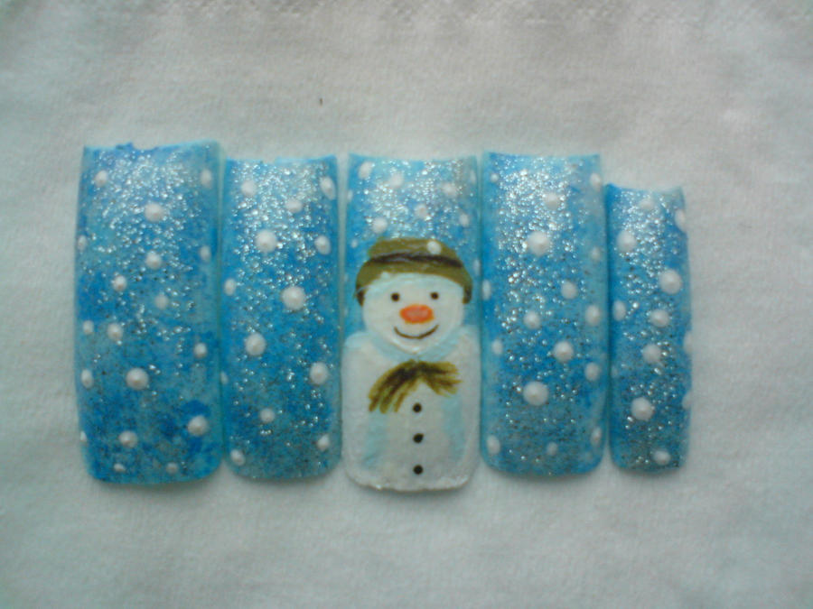 The Snowman Nail Art by Decembergirl2011 on DeviantArt