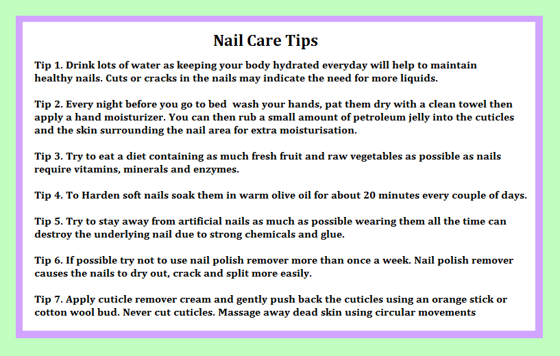 Nail Care Tips by Decembergirl2011 on DeviantArt