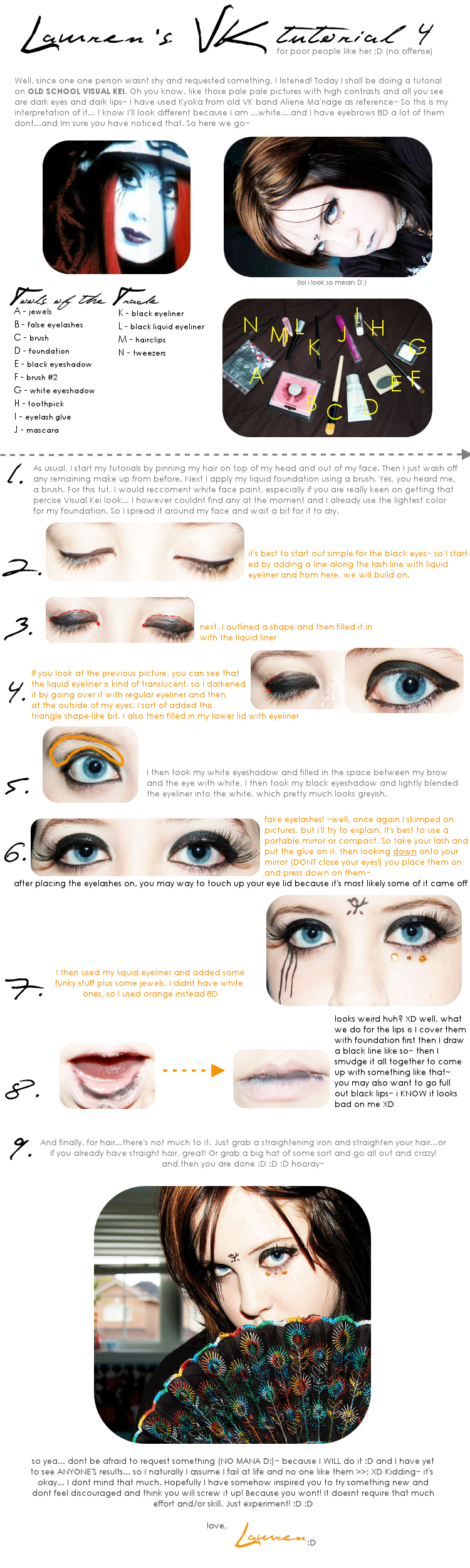 Visual Kei Make Up Tutorial 4 By Drag My Soul On Deviantart