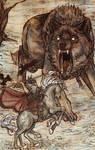 Odin and Fenrir