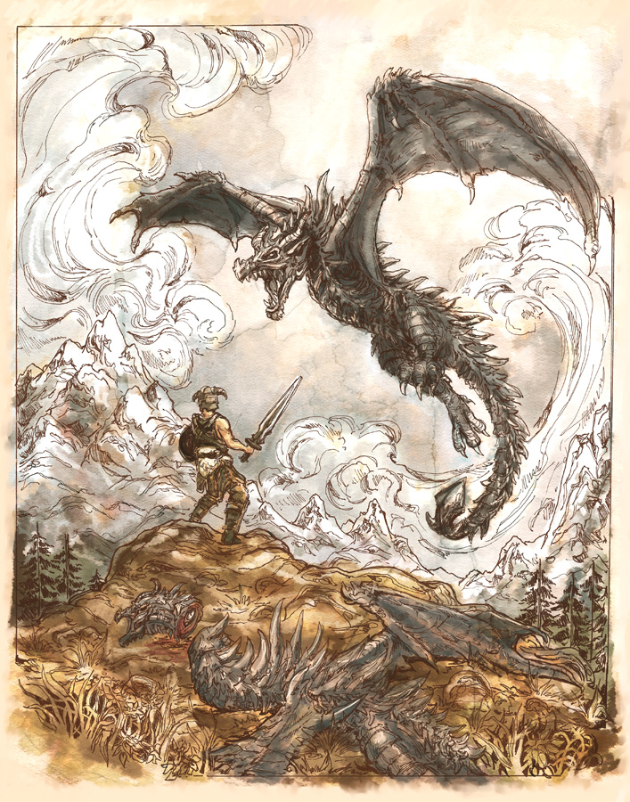 Skyrim- Dragonborn by Dreoilin