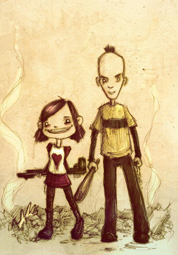 evil stinky sketch... by neurotic-elf