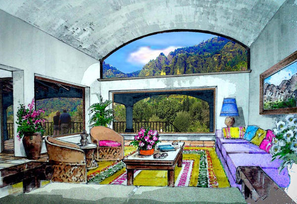Mexican living room by domingo64 on DeviantArt