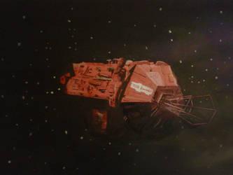 The Red Dwarf ship by KazeNiNaru