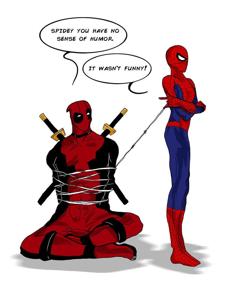 Spider-man and Deadpool by LovisaD