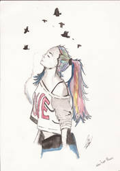 mujer de colores by D98ART