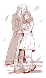 Commission: Edward and Yui by B-Griveros