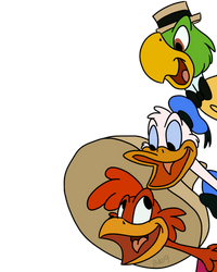 The Three Caballeros Stack by zipadeelady