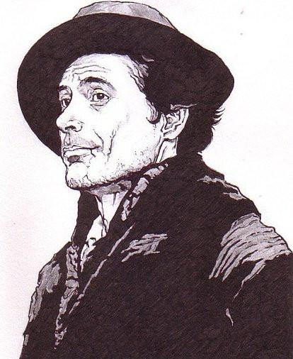 my artwork-Downey Jr as Holmes by Samvinci