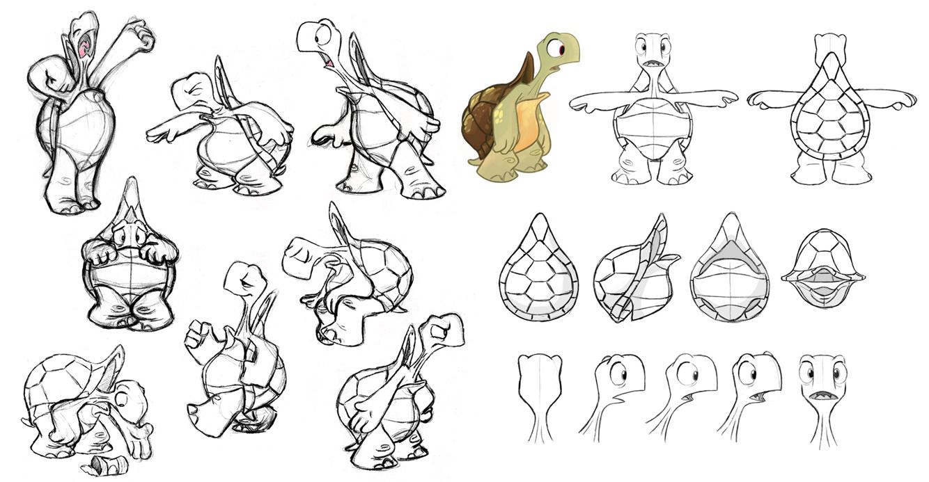 Character Design Ref Sheet : Turtle model sheet by bmaras on deviantart