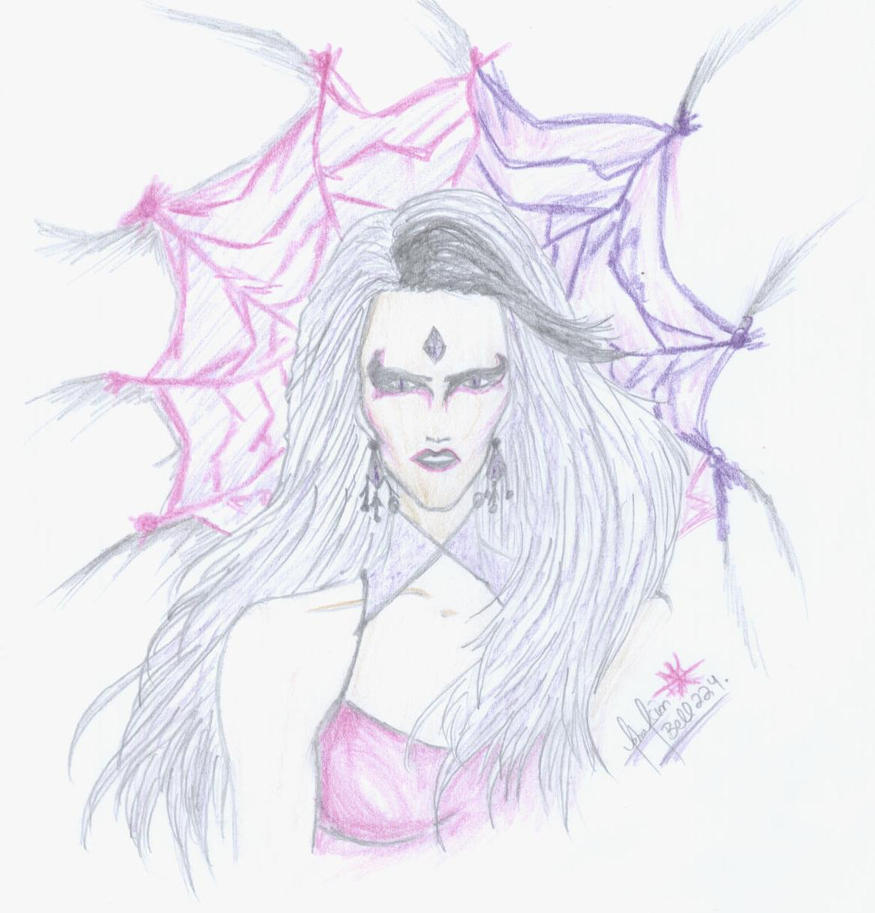 Sindel: Webbed in a horror... by divadonna224