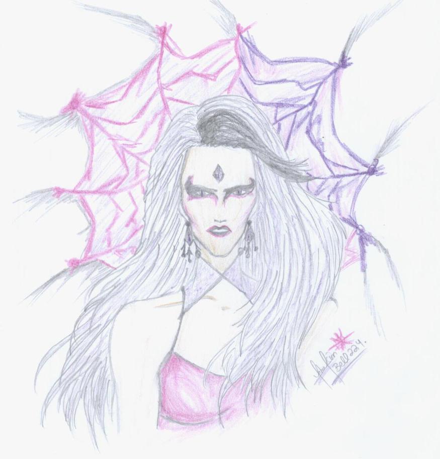 Sindel: Webbed in a horror... by divadonna224