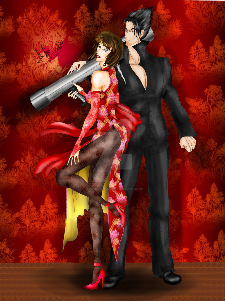Tekken: Anna and Jin Kazama by divadonna224