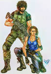 Resident Evil 3 Remake: Jill and Carlos by divadonna224
