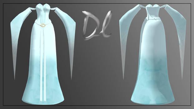 [MMD] Elven Bridal Gown (dress)