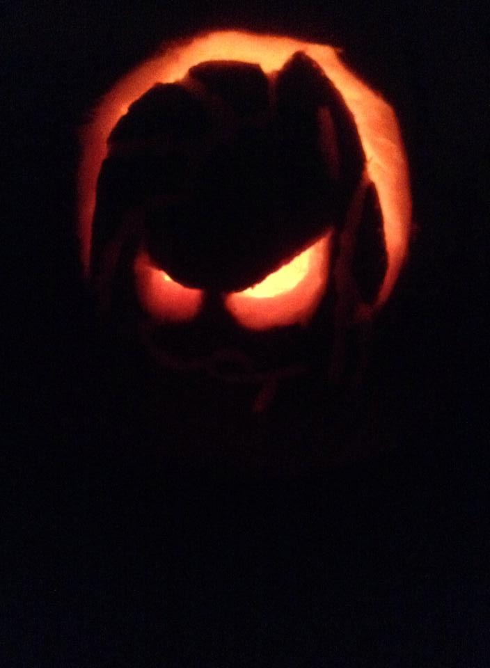Here s a pumpkin carving i did of pinkie pie as pinkamena