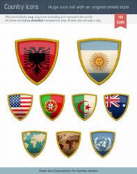 World flags icon set by Oscarvega