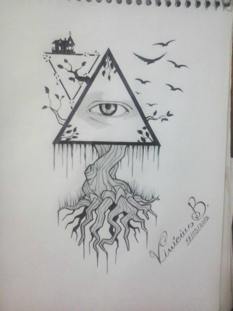 Illuminati Triangle Eye Drawing Eywa Illuminati by MrD...