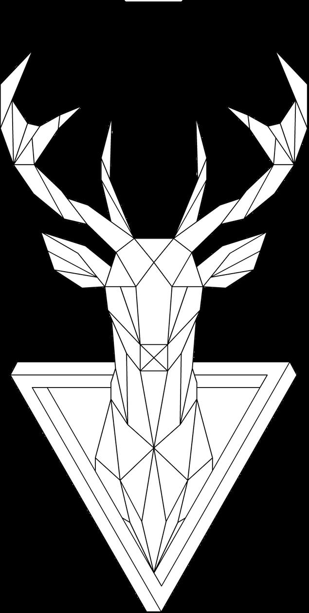 Line Art Design Geometry : Geometric deer by mrdrawing on deviantart