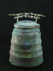 Burnt Blue Jar by PresumedSublime