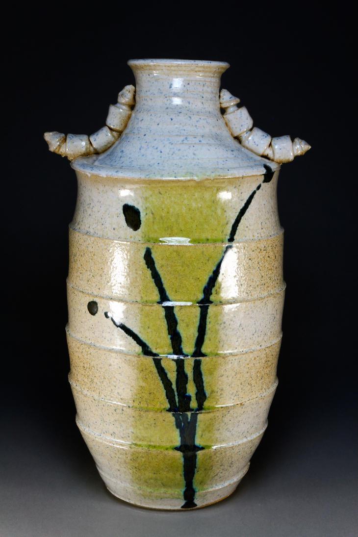 Green Striped Vase by PresumedSublime