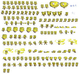Spongebob Sprites by zillagamer